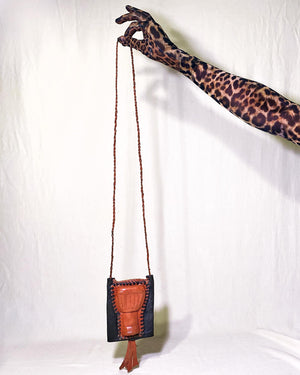 "Ghana-Made Leather ""Wallet Bag"" (Drum)"