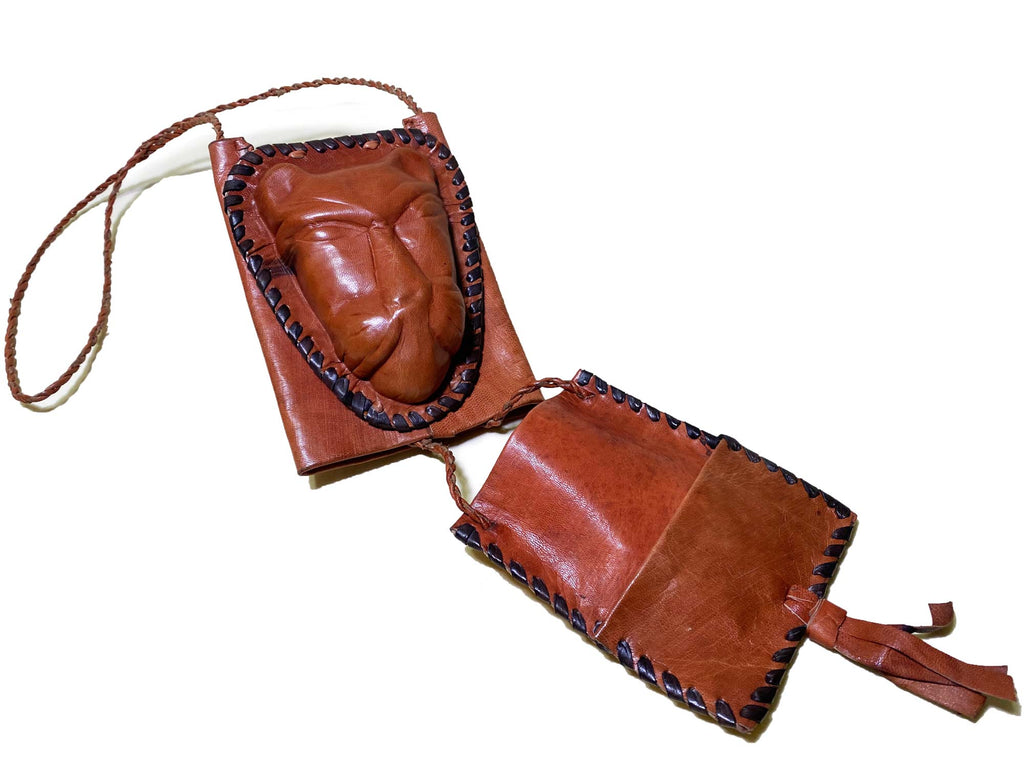 "Ghana-Made Leather ""Wallet Bag"" (Lion)"