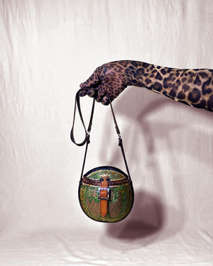 Jamaica-Made Carved Calabash Handbag