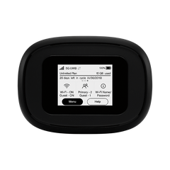 Inseego Verizon 5G and 4G LTE MiFi M1000 Hotspot | Connect up to 15 WiFi Devices and 1 Wired | Great for Remote Workers | Wi-Fi 2.4 GHz & 5 GHz | All Day Long Lasting Battery (Used Like New)