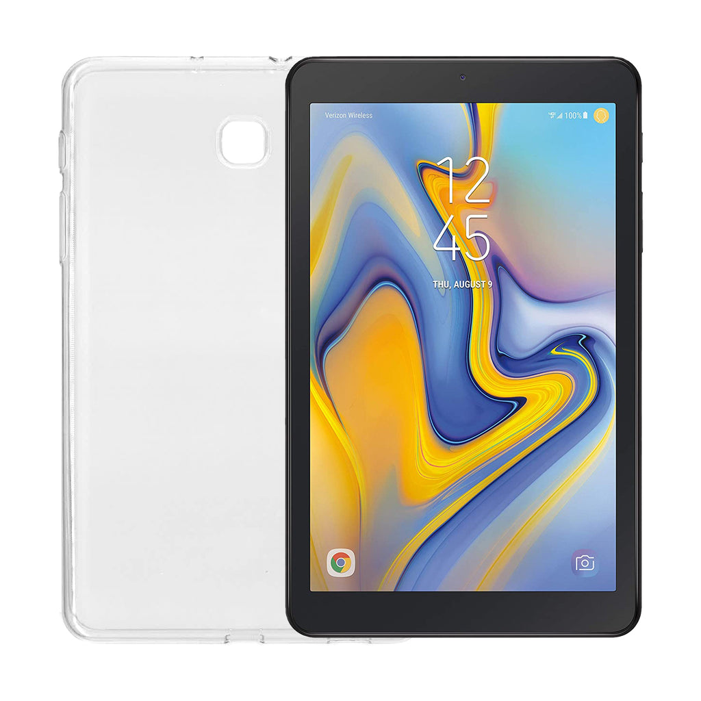 Samsung Galaxy Tab A (8.0 inch) 32GB Verizon Android Tablet and Case Bundle | WiFi + 4G LTE | SM-T387V | 5000mAh Battery | Black | with Protective TPU Back Cover