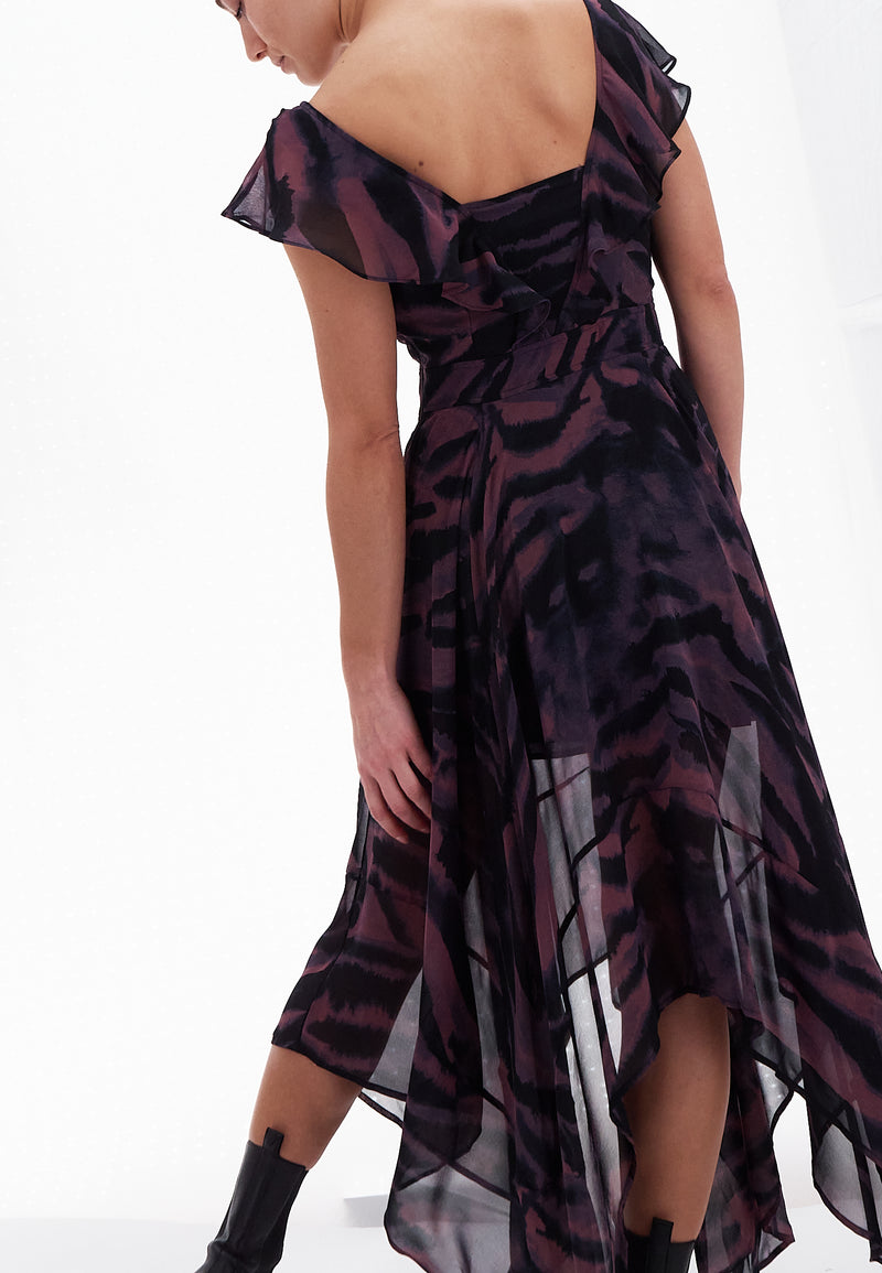 VIRTUAL MAXI DRESS VIGORIOUS PRINT