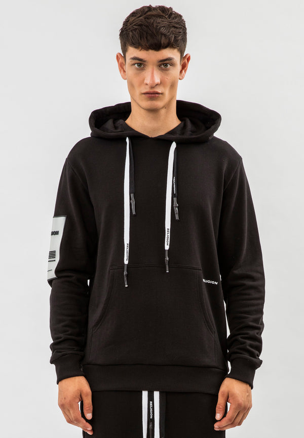 RELIGION Rep Black Pouch Pocket Sweat