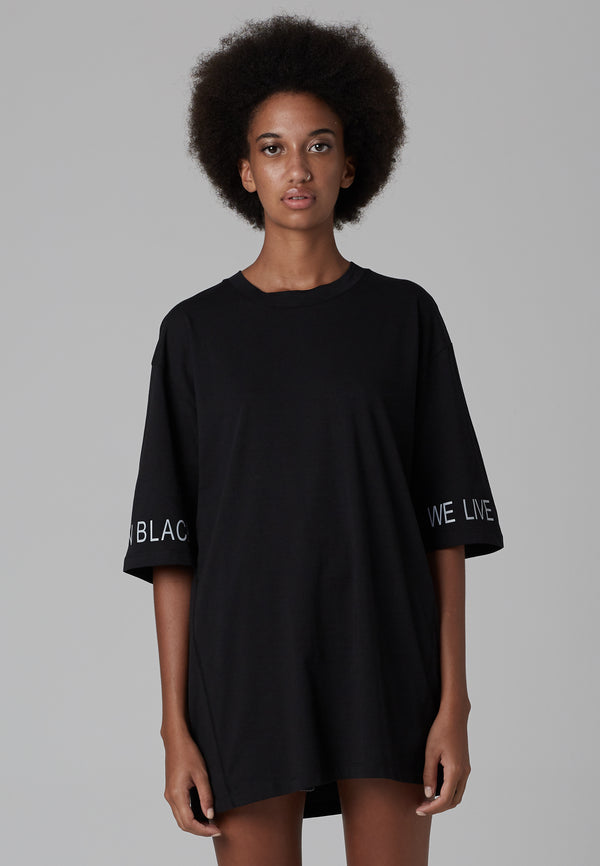 RELIGION We Live Black Oversized T-Shirt