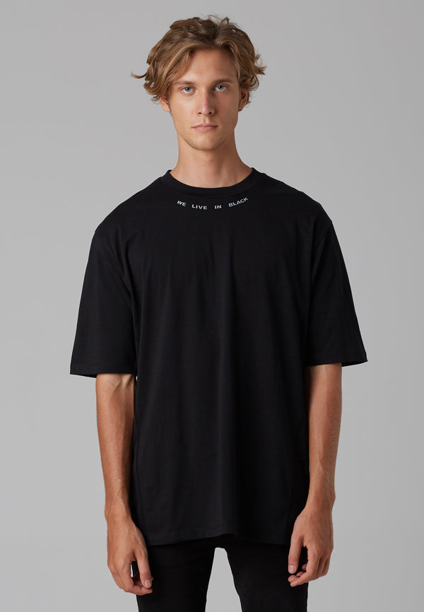 RELIGION We Live Oversized Black T-Shirt