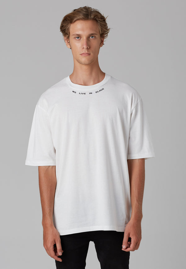 RELIGION We Live Oversized White T-Shirt