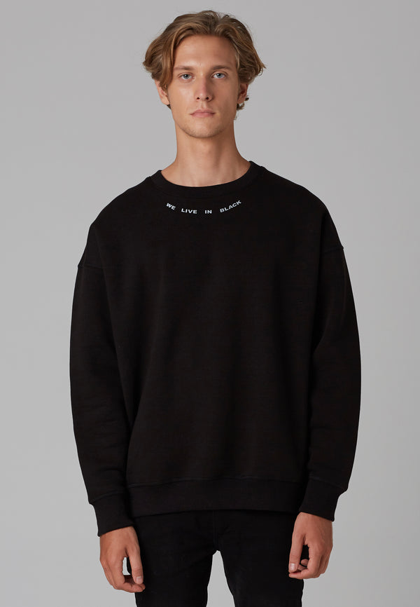 RELIGION We Live Black Oversized Sweat