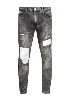 RELIGION Treble Ice Distressed & Ripped Jeans