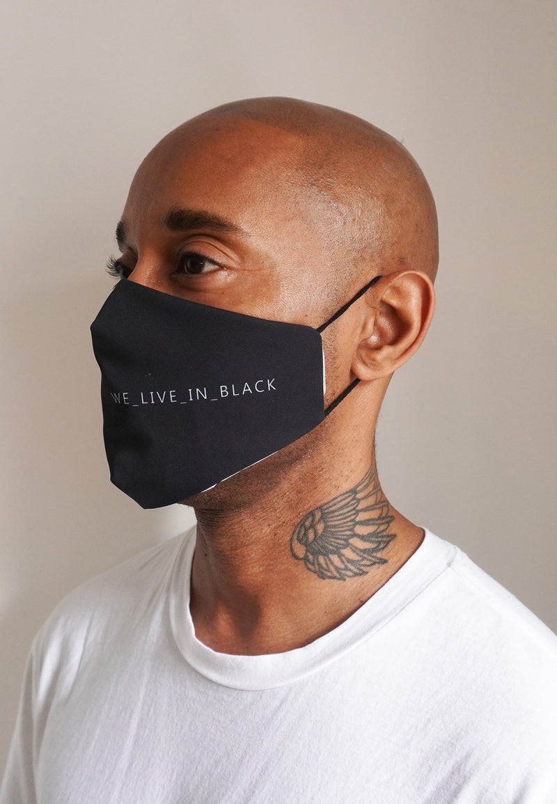RELIGION Face Mask We Live In Black