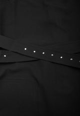 RELIGION Sheen All Over Studding Black Dress