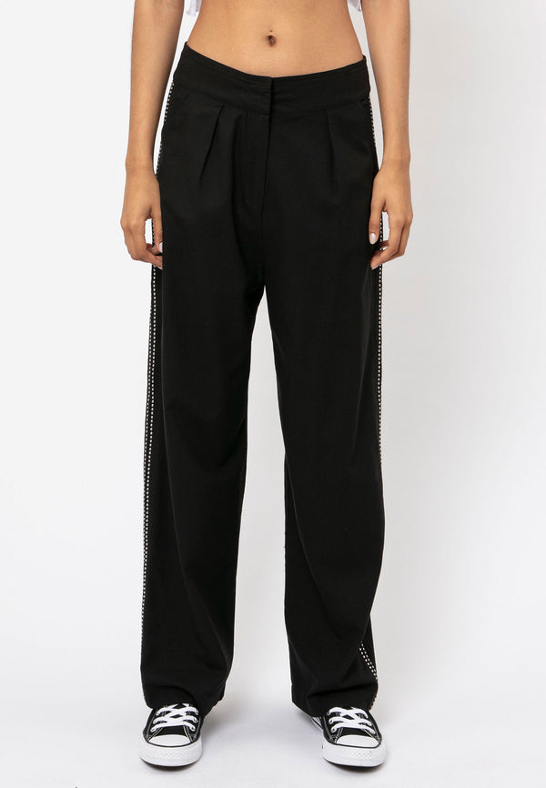 RELIGION Sunrise High Waist Black Trousers