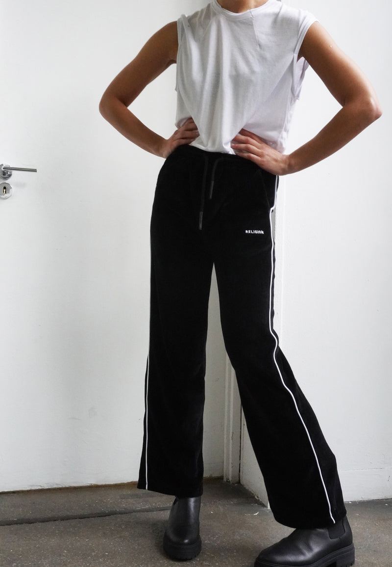 CONTENT TRACK TROUSER BLACK & WHITE