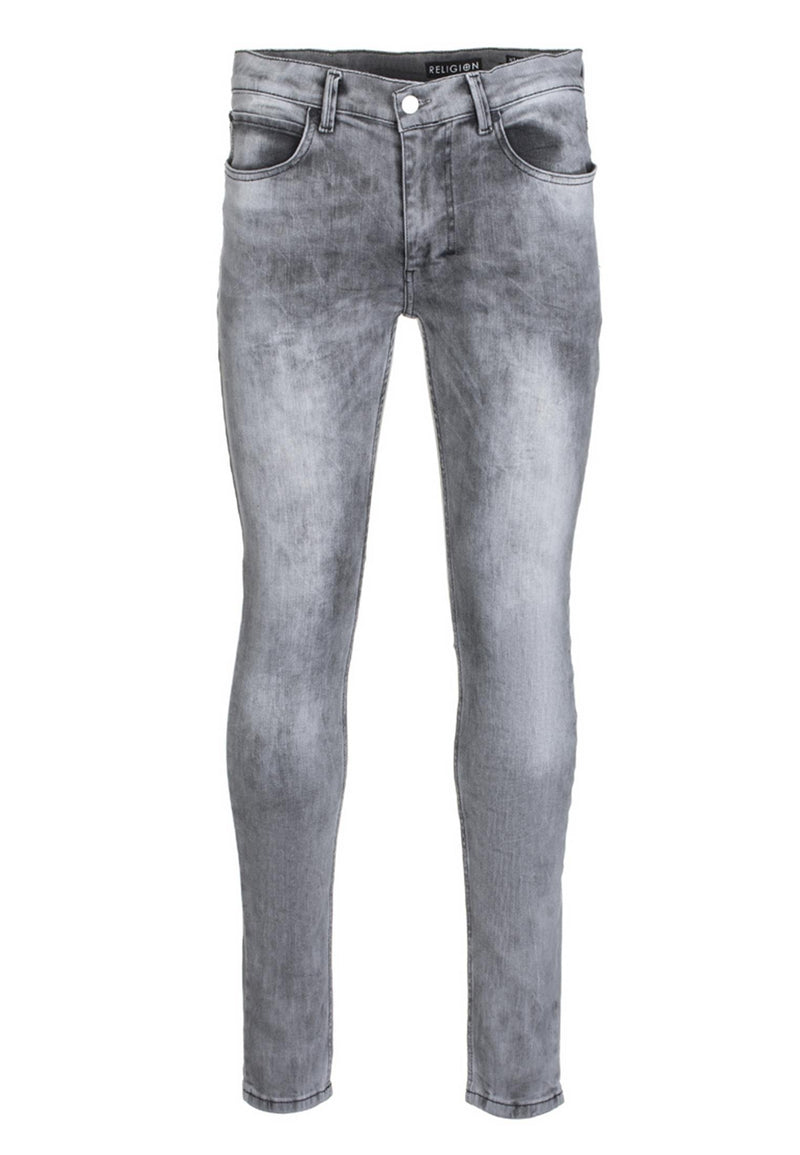 RELIGION Hero Skinny Jeans Grey Veins
