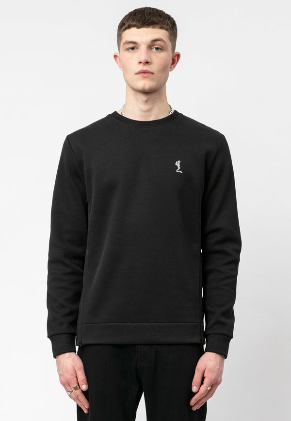 RELIGION Puller Relaxed Fit Black Sweat
