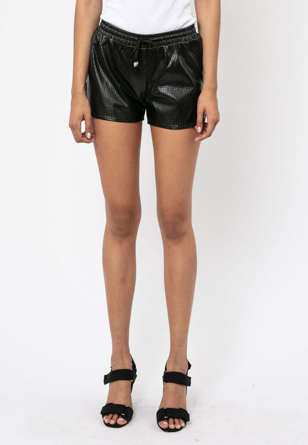 RELIGION Lighthouse Faux Leather Shorts