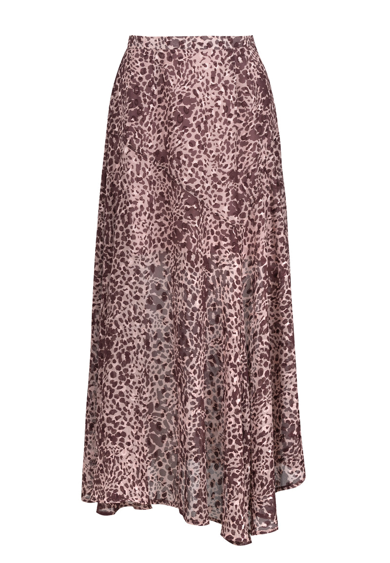 RELIGION Joy Animal Print Maxi Skirt