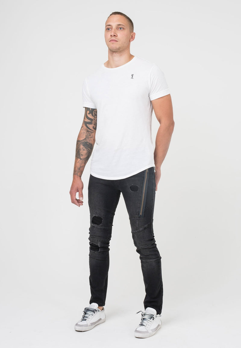 RELIGION Vault Dropped Crotch Skinny Jeans