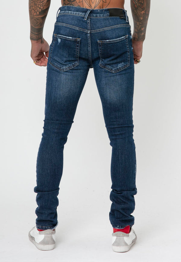 RELIGION Hero Slim Fit Storm Blue Jeans