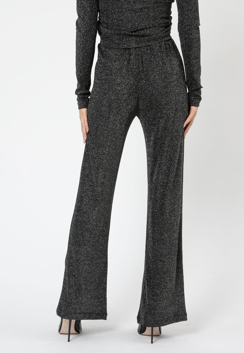 RELIGION Modern Dark Grey Flared Trousers