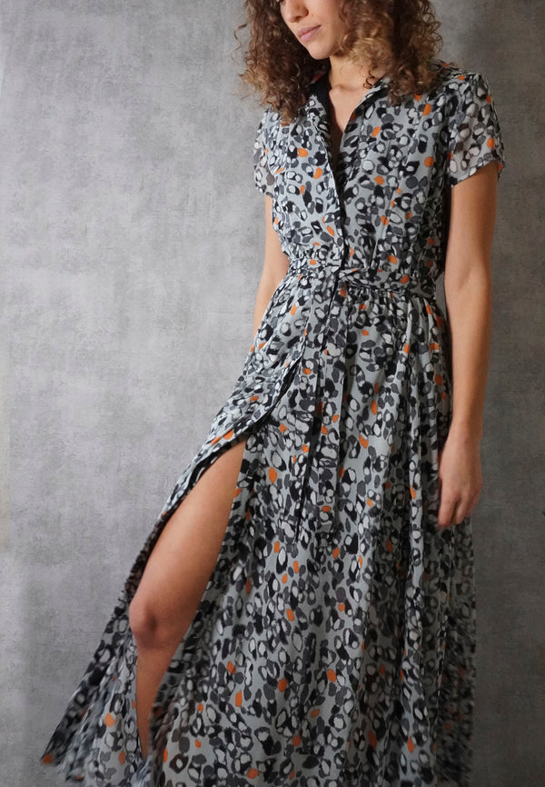 JOYOUS MAXI DRESS CHASE PRINT