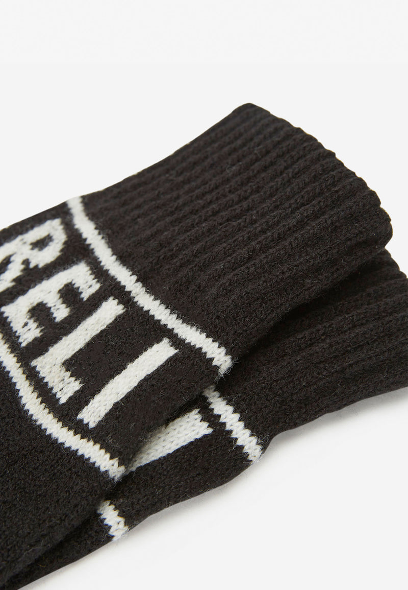 RELIGION Kalma Knitted Gloves Black