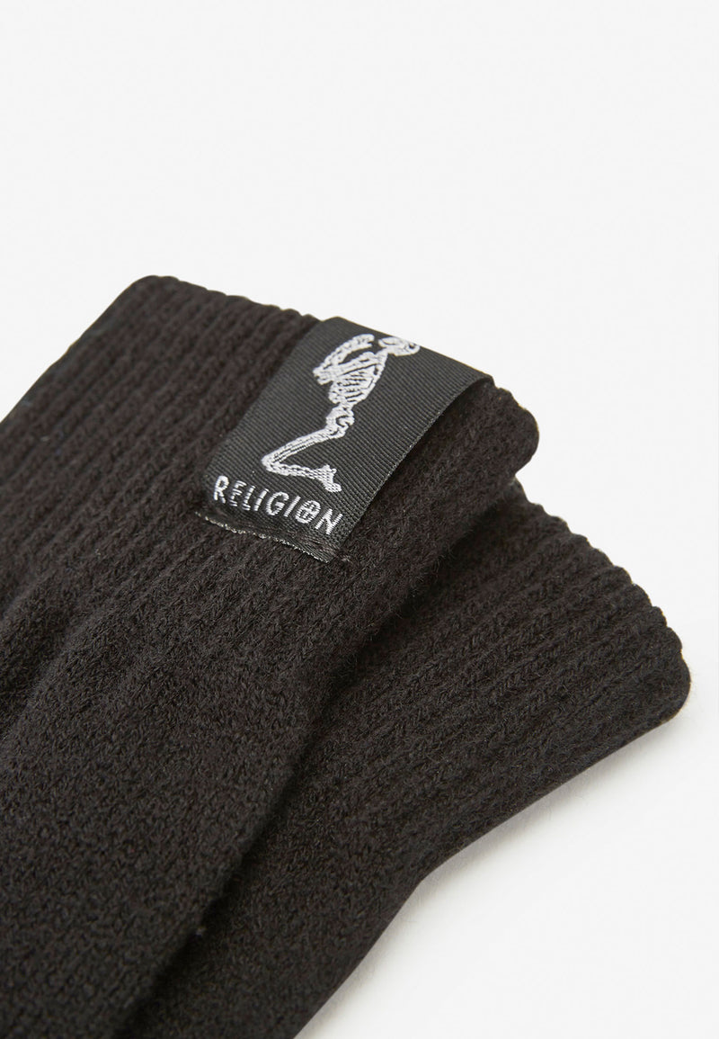 RELIGION Touchscreen Liya Knitted Gloves Black
