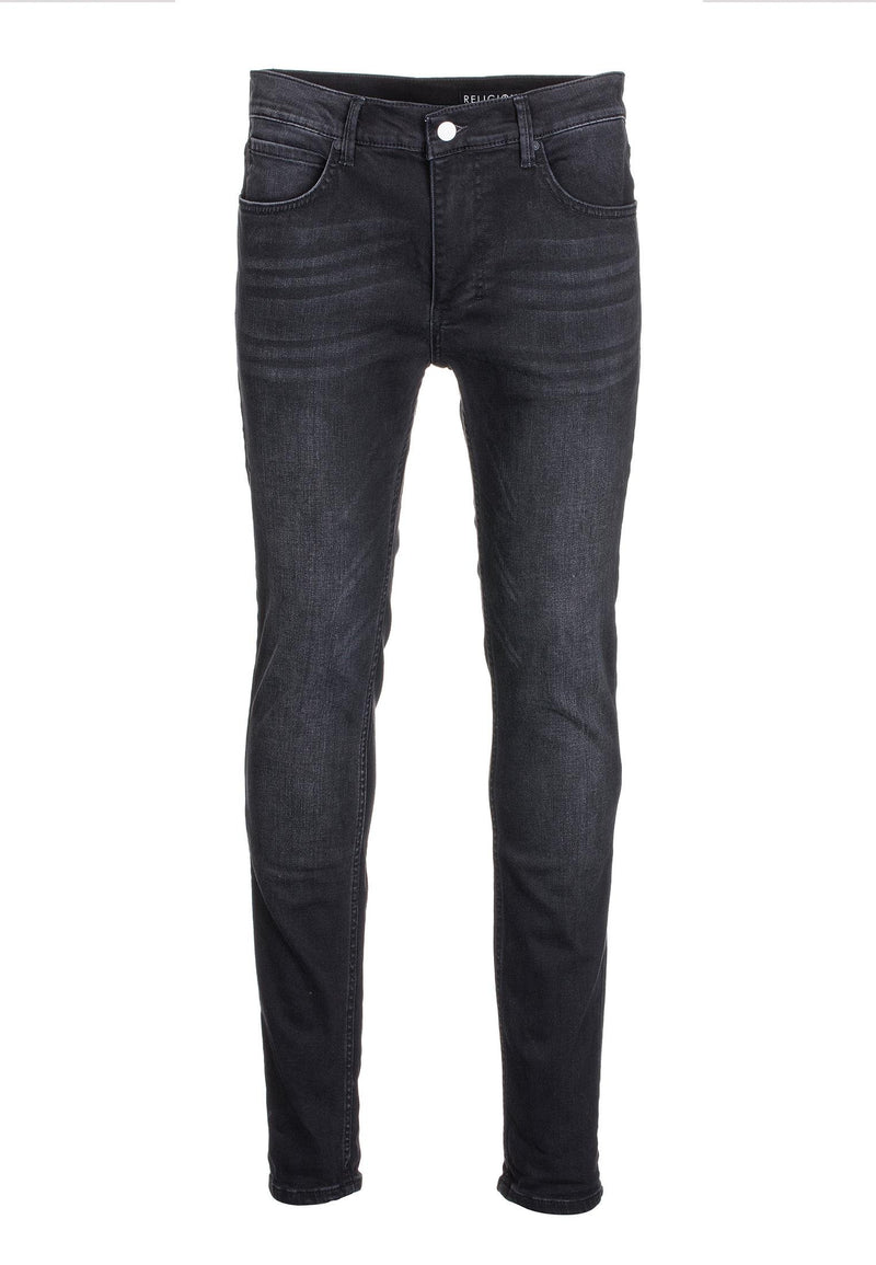 RELIGION Noize Skinny Jeans Washed Black