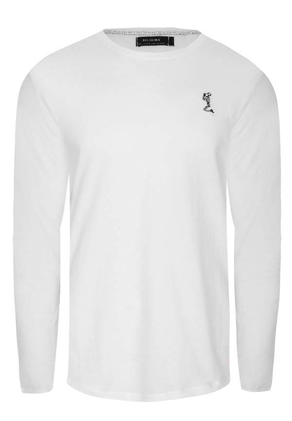 ACE LONGLINE LS T-SHIRT WHITE