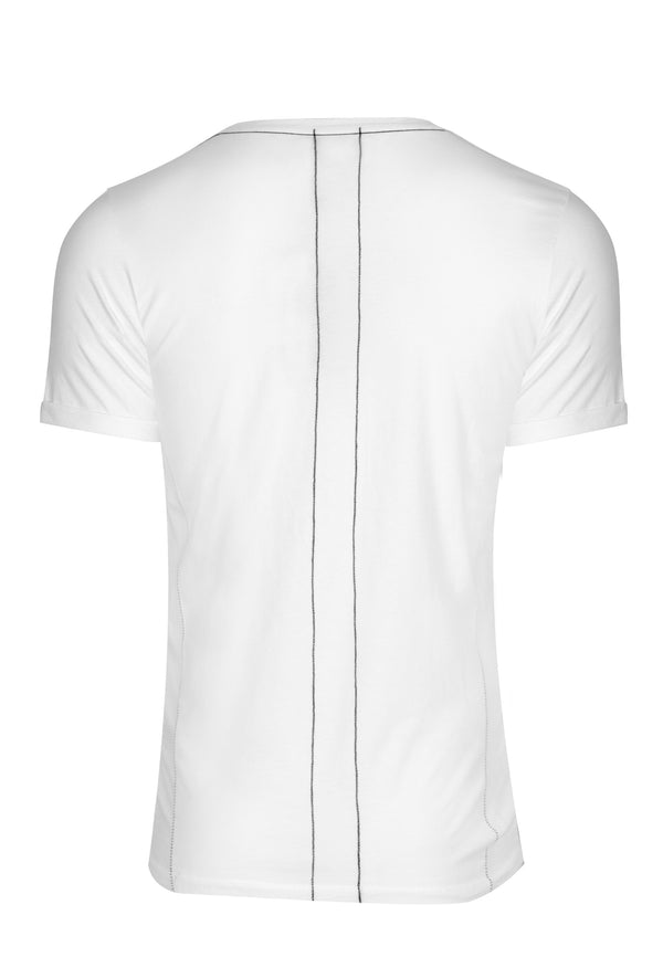 RELIGION Rolled Cap Sleeve White T-Shirt