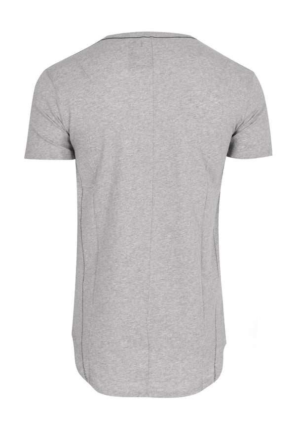 RELIGION Stowe Longline Plain Grey T-Shirt