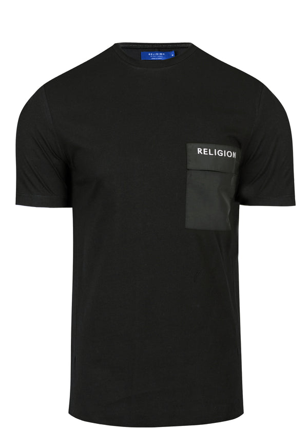RELIGION Barrage Relaxed Fit Black T-Shirt