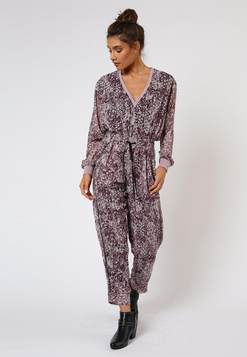 RELIGION Aspect Trousers Whirl Print