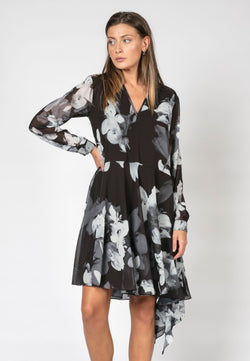 RELIGION Storm Dress Asymmetric Hem