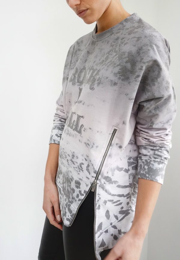 RELIGION Trace Distressed Animal Print Sweat