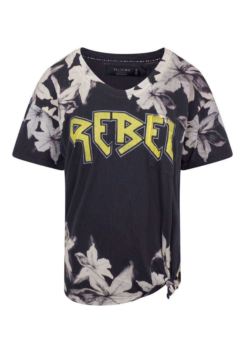 RELIGION Rebel Oversized Black T-Shirt