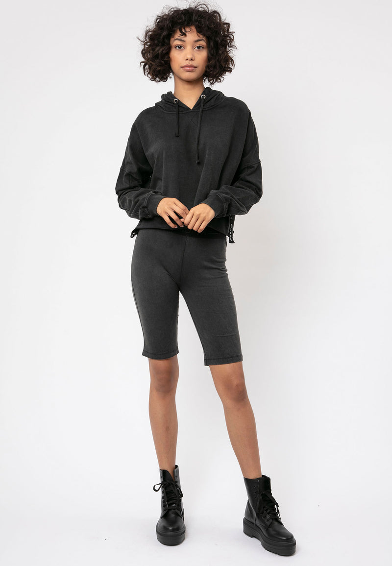 RELIGION Alive Cropped Fit Black Hoodie