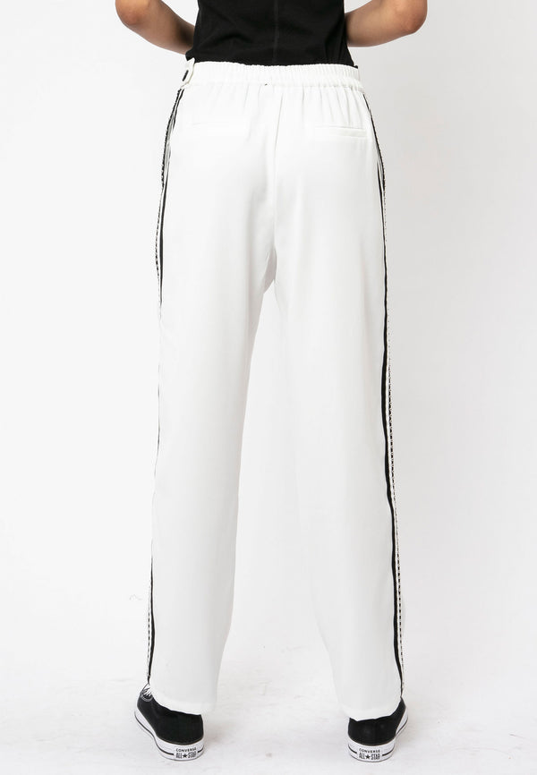 RELIGION Sunset White Tailored Trousers