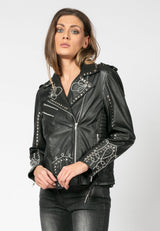 RELIGION Excellent Black Biker Leather Jacket
