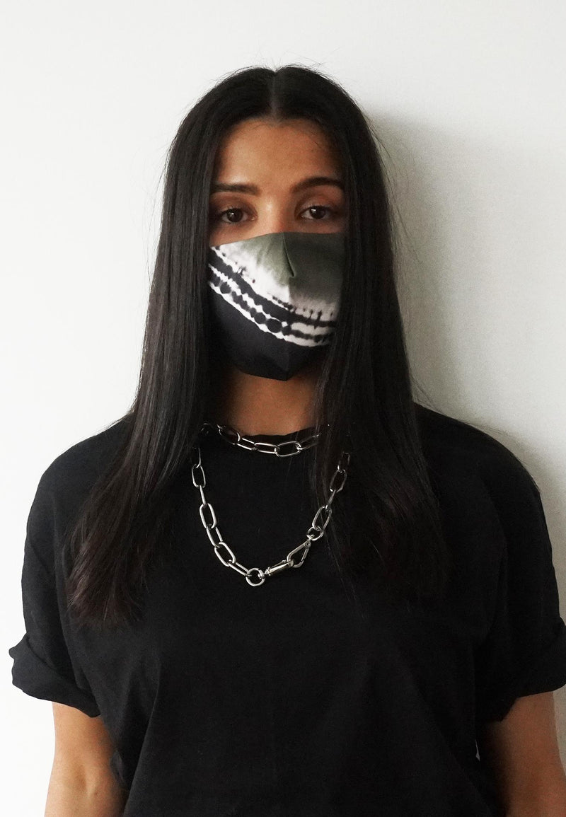 RELIGION Face Mask Tie-Dye Khaki