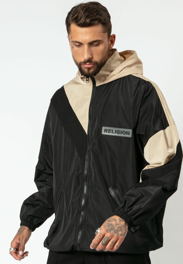 RELIGION Project Oversized Black & Tan Jacket