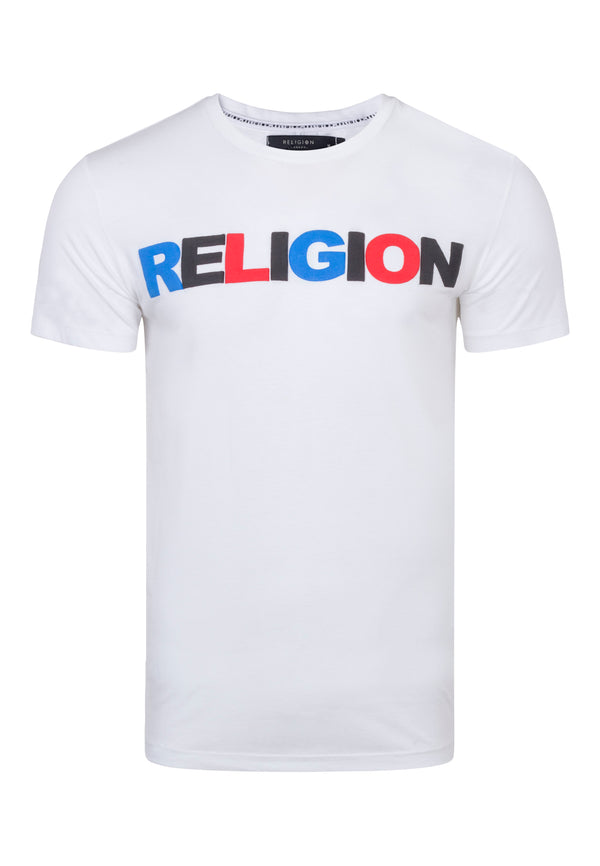 RELIGION United Typography White T-Shirt