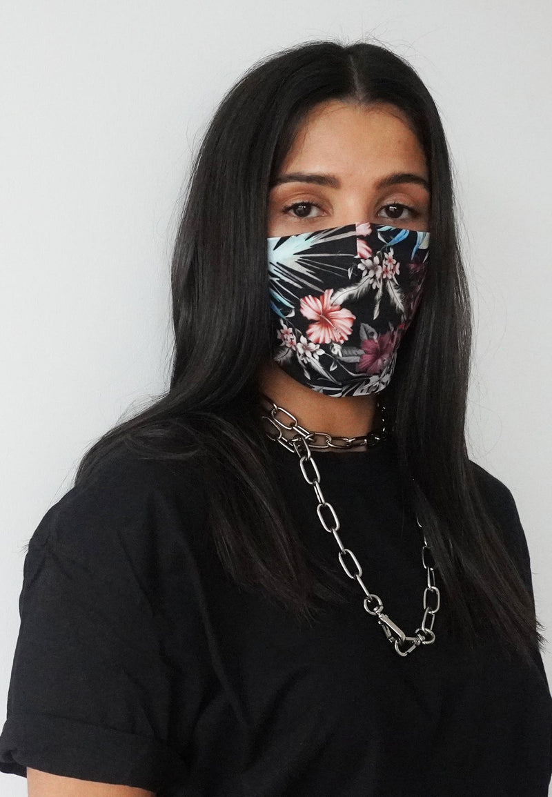 RELIGION Face Mask Jungle Floral Print