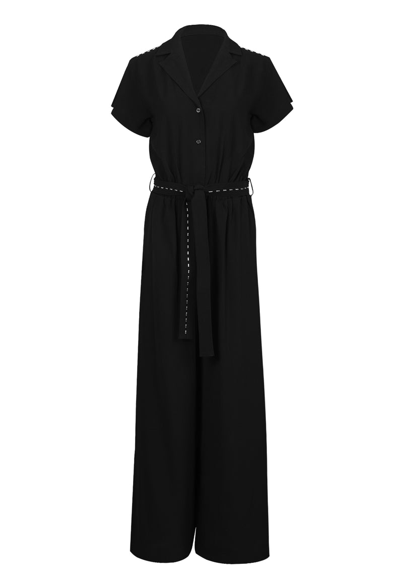 RELIGION Glamour Black Boilersuit