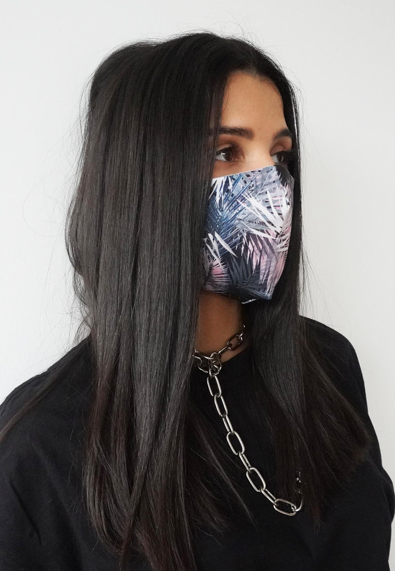 RELIGION Face Mask Pastel Reef Print