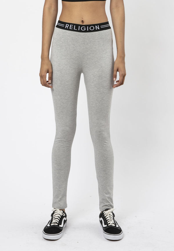 Religion Steady Fitted Grey Leggings Laura Barros