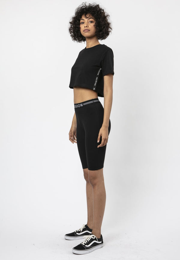 Religion Tranquil Boxy Fit Crop T-Shirt Laura Barros