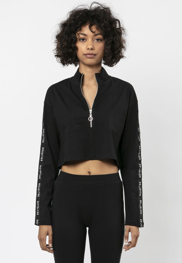 TRANQUIL TRACK TOP BLACK