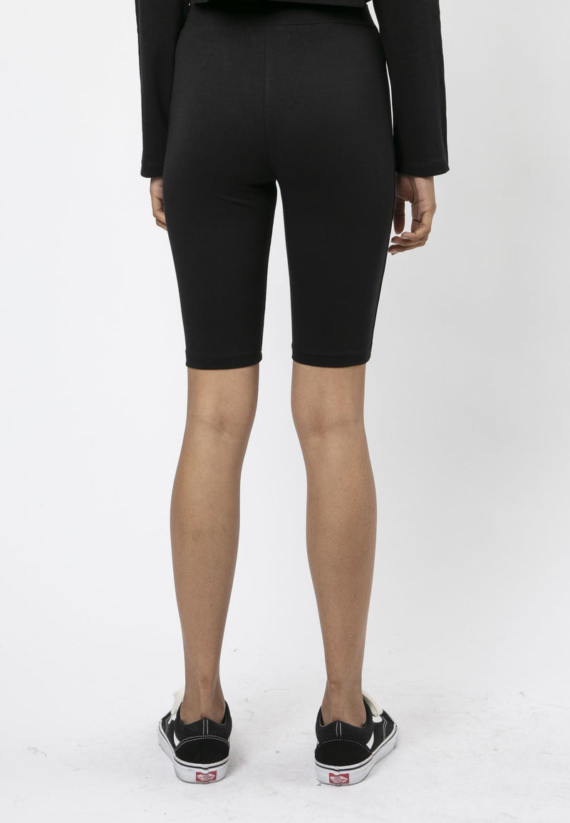 RELIGION Tranquil Cropped Black Cycling Shorts