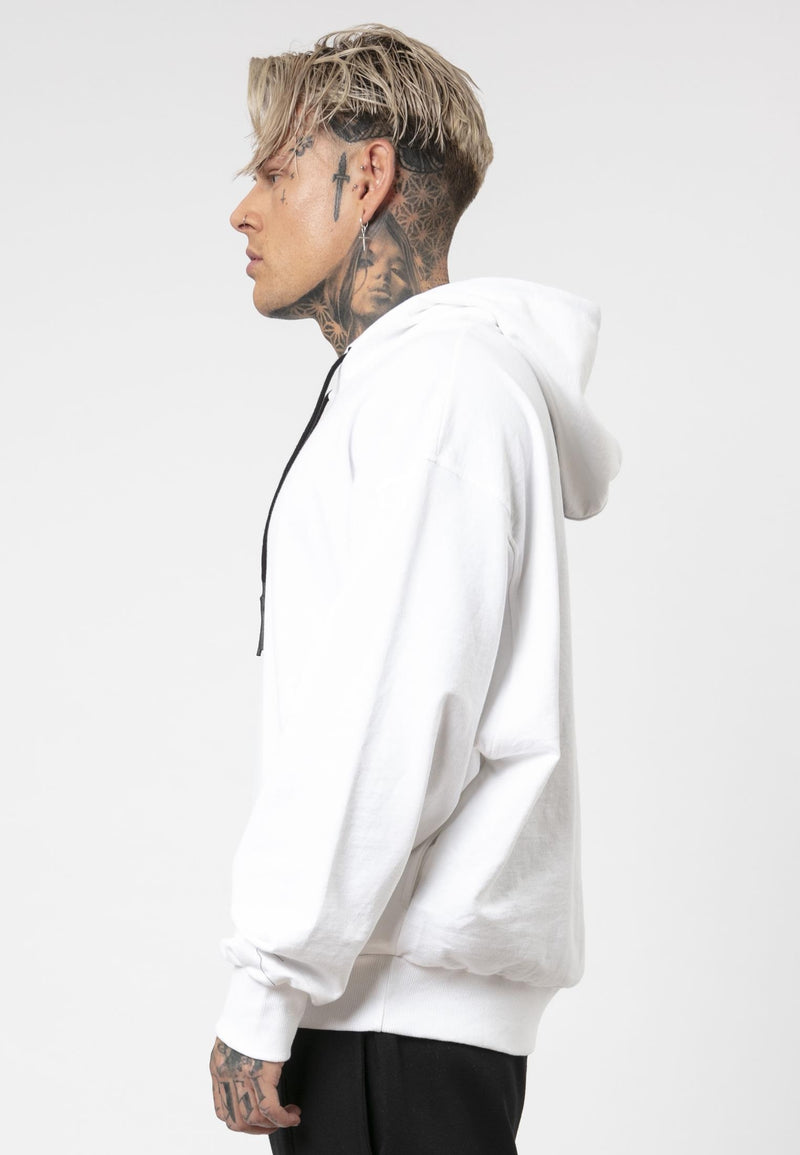 RELIGION We Live Oversized White Hoodie