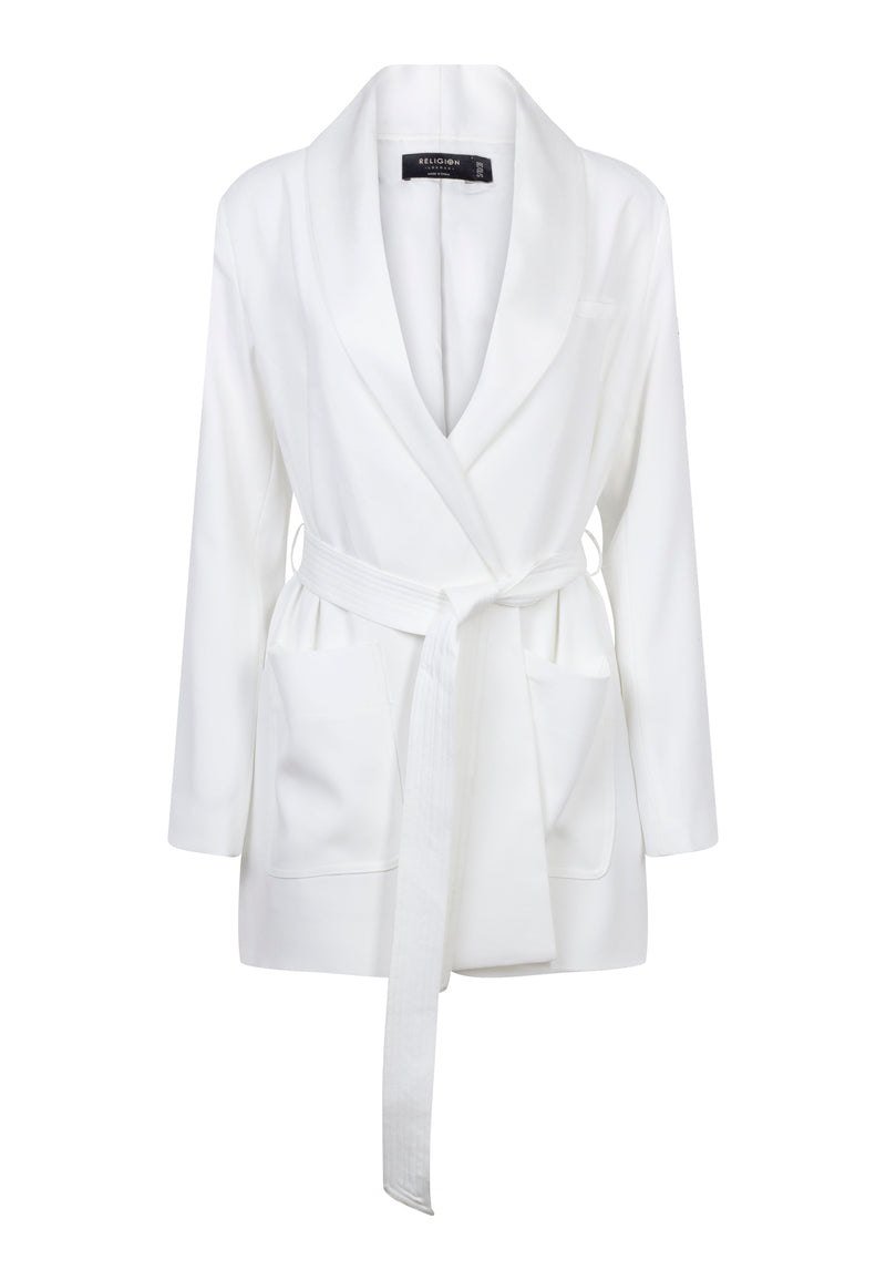 RELIGION Sunset Tailored White Jacket